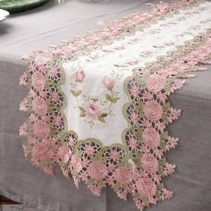 ソレイユローズ テーブルランナー 77890 サイズ:W120×D35cm 材質:生地/綿100%、...