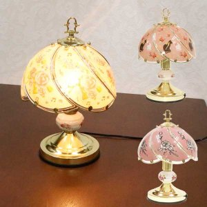 タッチライト 寝室 おしゃれテーブルランプ おしゃれ 薔薇柄 猫柄 音符 選べる3種