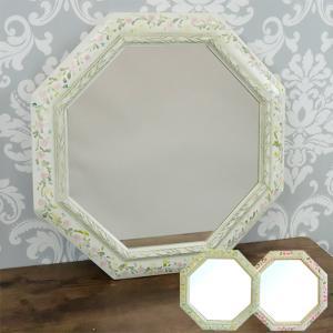 八角形 鏡 玄関 風水 送料無料 壁掛けミラー 八角ミラー 掛け鏡