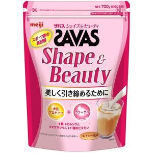 明治 ザバス(SAVAS) シェイプ&ビューティ ソイプロテイン+コラーゲン ミルクティー風味 【50食分】 700g|yasuraka