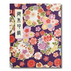 御朱印帳 60ページ ブック式 ビニールカバー付 四季彩爛漫 (藤)|yasyabou
