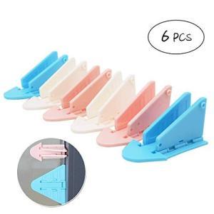ベビースライドドアロック3組 子供 いたずら防止 窓ストッパー 引き戸ロック 網戸専補助錠(白、青、ピンクを|yasyabou