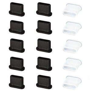 SuRing USB3.1 Type-C コネクタカバー キャップ メス用 10個 シリコン製 オス...