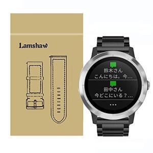 Lamshaw バンド 対応 Garmin vivoactive 3, ステンレス メタル 高品質 ...