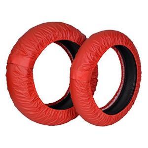 Rise 17インチ タイヤ保護カバー(まもる君) レッド 前後セット アクリルカラーコーティング(UVカット・撥水・防|yasyabou