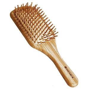 Orienex ヘアブラシ 木製櫛 美髪ケア 頭皮&肩&顔マッサージ 母の日(大)