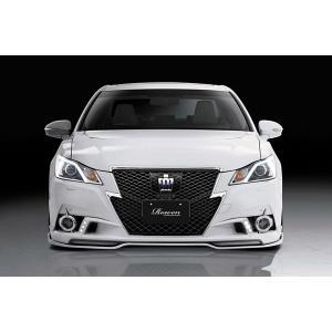 ROWEN PREMIUM Edition フロントスポイラー LEDスポットあり FRP製 塗装済 トヨタ クラウン アスリート 2WD GRS210用 1T012A00#|yatoh2
