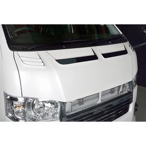 ROWEN CROSS BLAZE レーシングボンネットフード FRP製 塗装済 トヨタ ハイエース 標準ボディ 2WD 4型 TRH200K用 2T019B00# yatoh