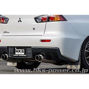HKS ハイパワー スペックL ミツビシ ランサーエボリューション10 4WD CZ4A用 左右出し 31019-AM011|yatoh