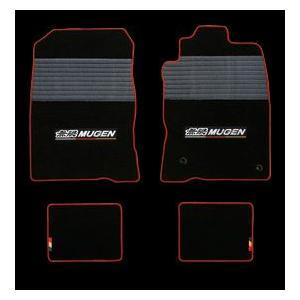 MUGEN スポーツ マット ブラック×レッド ホンダ CR-Z β FF ZF2用 08P15-XLT-K1S0-RD|yatoh