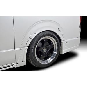 ROWEN PREMIUM Edition リアオーバーフェンダー FRP製 塗装済 塗り分け塗装済 トヨタ ハイエース ワイドボディ 2WD 4型 KDH211K用 2T019F10## yatoh