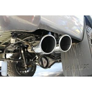 【代引き不可】SUXON 4X4 サイド出しマフラー トヨタ ハイラックス 4WD QDF-GUN125用 2本出し 101.6φポリッシュ HLD-125|yatoh