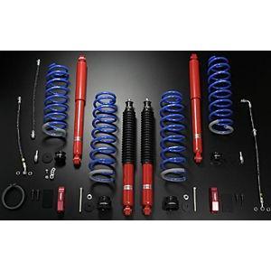 モンスタースポーツ XCLハイトアップサスペンションセット 50mmリフトアップ パッケージA スズキ ジムニー 4WD JB23W用 511551-5250XA|yatoh