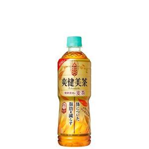 【2ケースセット】爽健美茶 健康素材の麦茶 PET 600ML 24×2【代引き不可】【他商品との同梱不可】|yatownart