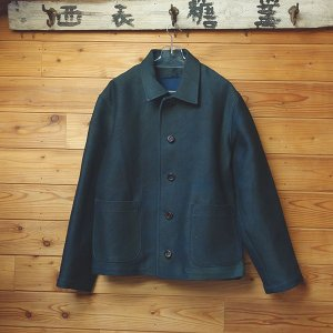 藍染めと柿渋染めの厚地メンズジャケット 送料無料|yatsugatakestyle