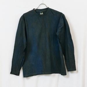 藍と柿渋染めの長袖Tシャツ|yatsugatakestyle