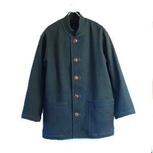 藍染と柿渋染め手染めの刺し子 柔道着生地 メンズジャケット |yatsugatakestyle