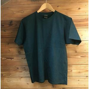 藍と柿渋染めTシャツLサイズ|yatsugatakestyle