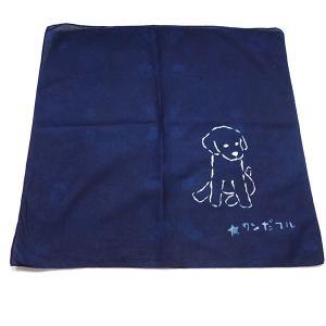 藍染ハンカチ 干支 犬|yatsugatakestyle