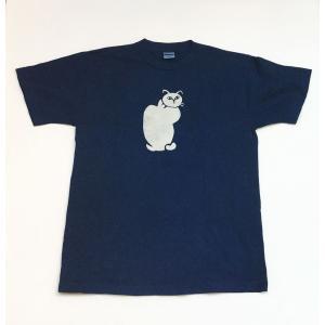 藍染Tシャツの縦猫|yatsugatakestyle