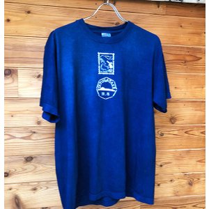 藍染 オリジナル型染 手染 八ヶ岳の日縦 メンズ レディース厚地Tシャツ yatsugatakestyle