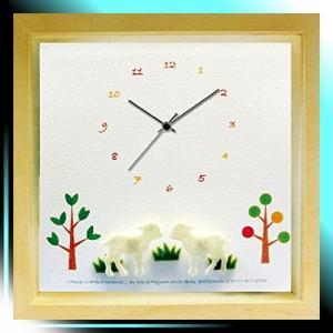 置き時計・掛け時計 ナチュラル サイズ:幅22×高さ22×厚4.5cm|yaya-ayy14