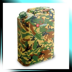 YAZAWA ガソリン携帯缶 縦型ガソリン携帯缶 迷彩塗装 品番 TG20M|yaya-ayy14