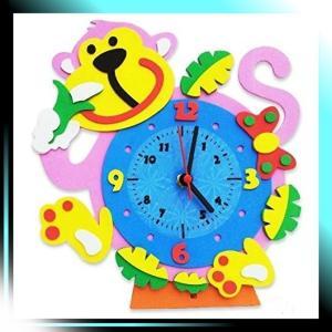 手作り 置き 時計 かわいい 動物 の おもしろ 時計 DIY さる 02|yaya-ayy14