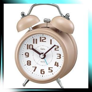 Felio 置き時計・掛け時計 アイボリー 約 高さ11.4×幅8.2×奥行き6.|yaya-ayy14