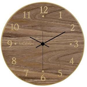 モディッシュ 木製壁掛け時計 ウォールナット G-1162B yaya-ayy14