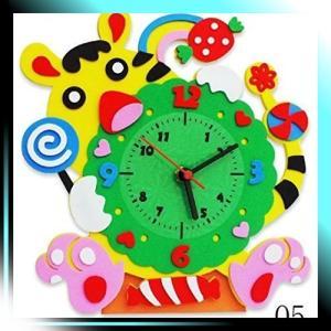 手作り 置き 時計 かわいい 動物 の おもしろ 時計 DIY とら 05|yaya-ayy14