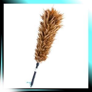 人による手造り 毛ばたき 鶏毛 全長約55cm M-35|yaya-ayy14