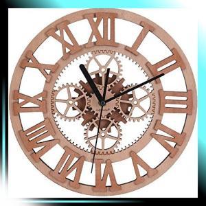 時計 ギアの形 友達のギフト 壁掛け時計 おしゃれ 北欧 木製 ウォー yaya-ayy14