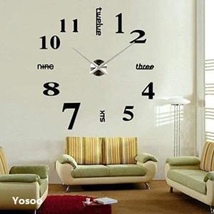 シルバー 掛け時計 DIY 壁時計 インテリア 室内 ウォールクロッ yaya-ayy14