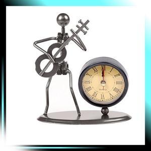 おもしろい 音楽家 手作り アイアン製 時計 置き時計 学校 オフィス|yaya-ayy14