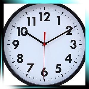 不二貿易 壁掛け時計 ミーナ 直径25.4cm プラスチック ブラック 5358 yaya-ayy14