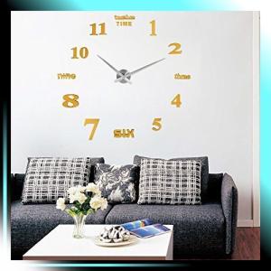 ゴールド 掛け時計 DIY 壁時計 インテリア 室内 ウォールクロッ yaya-ayy14