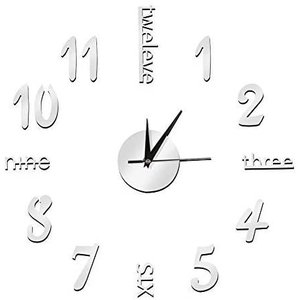 シルバー ウォールクロック 掛け時計 壁時計 インテリア 室内 DI yaya-ayy14