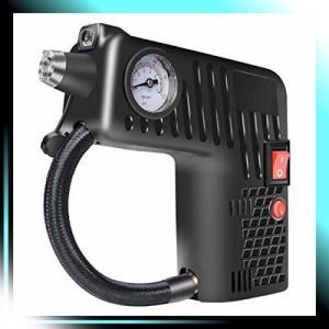 多機能 電動式 エアコンプレッサー 車用空気入れ 車用12V エアゲ|yaya-ayy14