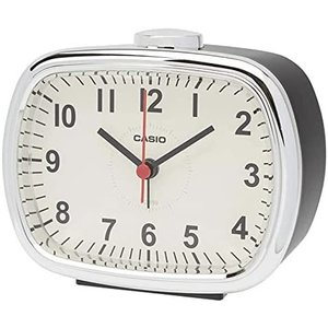 置き時計 ダークブラウン 9.1×10.9×6.2cm レトロカラー TQ-159|yaya-ayy14