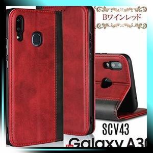 Galaxy A30用/Bワインレッド LitBrian Galaxy A30 ケース 手帳型|yaya-ayy14