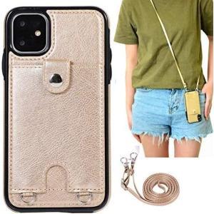 11-iPhone 11/首かけ 斜めがけ-ゴールド iPhone 11スマホ ケース|yaya-ayy14