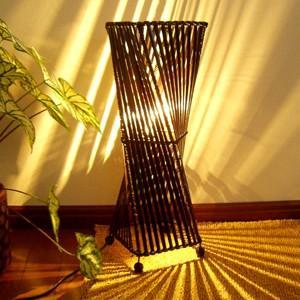 スタンドライト おしゃれ 間接照明 ♪バンブートルネードランプM50♪ アジアン照明 バリ フロアスタンド エスニック クリスマス プレゼント|yayapapus-y