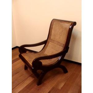 アジアン家具 バリ ♪SAラタンラウンジチェア(M)♪ チェア 高座椅子 パーソナルチェア ローチェア 木製 チーク ラタン エスニック yayapapus-y