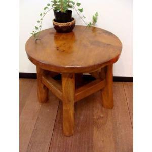 【10月上旬入荷予定】アジアン家具 ローテーブル バリ チーク材ナチュラルテーブル台(M)♪ テーブル ちゃぶ台 花台 木製 チーク材 エスニック yayapapus-y