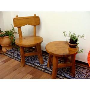 【3月上旬入荷予定】アジアン家具 バリ ♪ナチュラル ミニテーブル&チェアセット♪ テーブル ちゃぶ台 ベビーチェア 木製 チーク材 エスニック|yayapapus-y