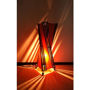 【12月中旬入荷予定】アジアン 照明 間接照明 スタンドライト♪バンブーとコットントルネードランプM50cm♪ バリ おしゃれ フロアスタンド エスニック|yayapapus-y