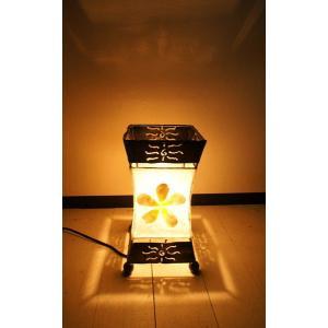 間接照明 スタンドライト ♪シェルのプルメリアランプ(S)♪ アジアン照明 バリ おしゃれ フロアスタンド エスニック|yayapapus-y