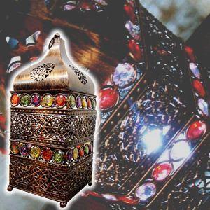 間接照明 スタンドライト テーブルライト インテリア照明 ♪モザイクビーズのランタン(LED付)♪ ...