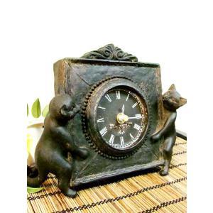 とてもかわいいネコちゃんの置時計が入荷しました☆  二人で仲良く時計見せてくれます(^▽^)  ブロ...